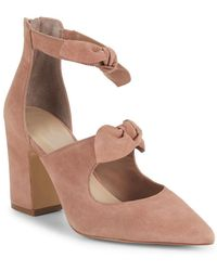 Lord & Taylor - Lucie Suede Bow Court Shoes - Lyst