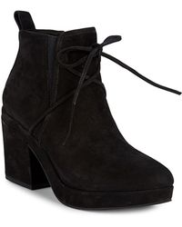 Eileen Fisher Lace-up Suede Booties