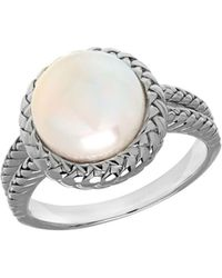 Lord & Taylor - 10mm White Freshwater Pearl And Sterling Silver Ring - Lyst