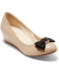 Cole Haan - Tali Grand Soft Bow Wedge Court Shoes - Lyst