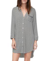 UGG - Lightweight Striped Sleep Shirt - Lyst