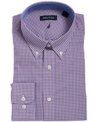 Nautica - Checkered Cotton Dress Shirt - Lyst