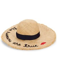 1c3e872c9 Embroidered Sun Hat - Natural