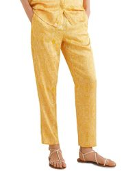 Mango - Paisley Pull-on Trousers - Lyst