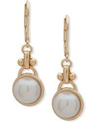 Anne Klein - Faux Pearl-embellished Drop Earrings - Lyst