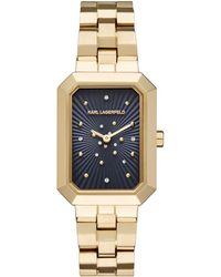 Karl Lagerfeld - Klassic Linda Stainless Steel 3-link Bracelet Watch - Lyst