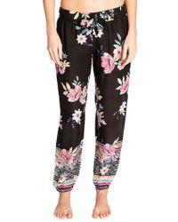 Pj Salvage Bonita Beach Drawstring Pyjama Trousers - Black