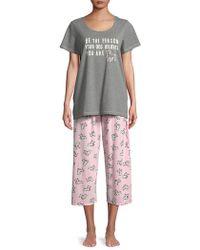 Hue - Plus Dog Believes Capri Pajamas - Lyst