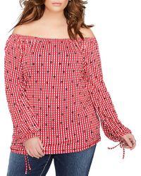 4c7985c2e47c5 Lyst - Lauren By Ralph Lauren Floral Ordisty Off Shoulder Top in Black