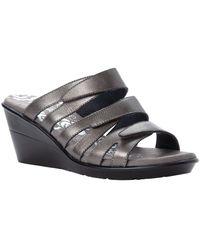 Propet Lexie Slide Sandals - Metallic