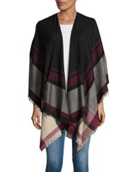 Lord & Taylor - Bold Striped Pancho - Lyst