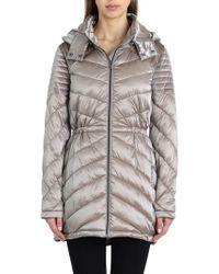 Badgley Mischka - Hooded Puffer Jacket - Lyst