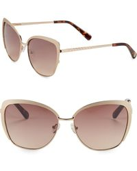 Vince Camuto 58mm Cat Eye Sunglasses - Metallic