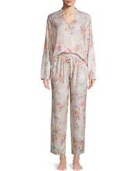 Flora Nikrooz Moira Printed Sleep Trousers - Gray