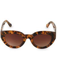 Sam Edelman 60mm Tortoiseshell Rounded Cat-eye Sunglasses - Brown