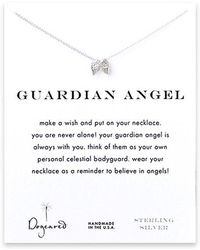 Dogeared - Angel Wing Charm Necklace - Lyst