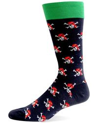 Hot Sox - Pirate Skulls Crew Socks - Lyst