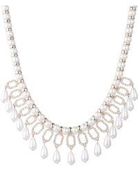 Ivanka Trump - Faux Pearl & Crystal Drama Necklace - Lyst