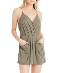 Jessica Simpson - Rosedale Sandwashed Jersey Romper - Lyst