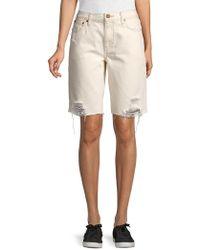 Free People Caroline Cut Off Shorts - White