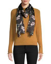 Lauren by Ralph Lauren - Floral-print Silk Scarf - Lyst