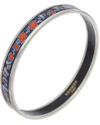 Hermès Enamel Bangle Bracelet Pm Narrow - Metallic