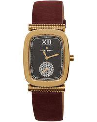 Lucky Brand Laurel Rectangular Leather Strap Watch - Multicolour