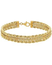 Lord + Taylor - 14k Yellow Gold Chain Bracelet - Lyst