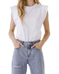 Endless Rose Sleeveless Basic T-shirt - White