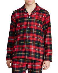 Polo Ralph Lauren Flannel Pyjama Top - Red