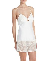 Rya Collection - Queen Chantilly Lace Charmeuse Chemise - Lyst