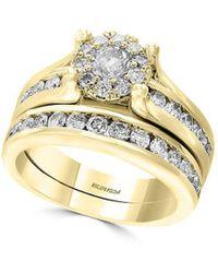 Effy D' Oro 14k Yellow Gold & Diamond Bridal Ring - Metallic