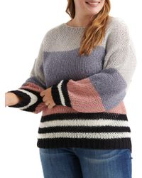 Lucky Brand - Bold Stripe Pullover Sweater - Lyst
