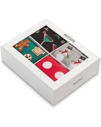 Hot Sox 4-pair Christmas Socks Gift Box - Multicolour