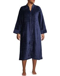 Miss Elaine Plus Tassel Zip Robe - Blue