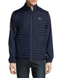 Lacoste - Contrast Quilted Jacket - Lyst