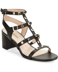Karl Lagerfeld | Honore Studded Leather Gladiator Sandals | Lyst