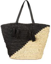 Bay Sky Colorblock Tote Bag - Black