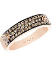 Le Vian 14k Strawberry Gold? Vanilla Diamond? And Chocolate Diamond? Ring - Metallic