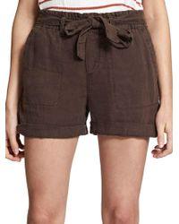 Sanctuary - Muse Tie-waist Linen Shorts - Lyst