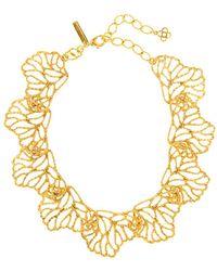 Oscar de la Renta Coral Branch Collar Necklace - Metallic