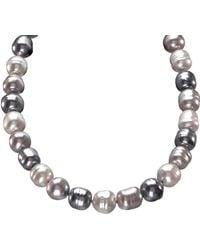 Majorica 14mm Multicolour Baroque Pearl & Sterling Silver Strand Necklace/20 - Metallic