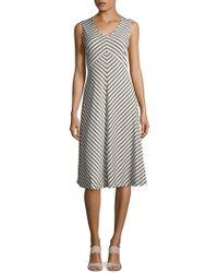 Jones New York - Stripe Twisted A-line Dress - Lyst