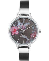 Nine West - Floral Print Dial Fashion Watch Nw-2045bkbk - Lyst