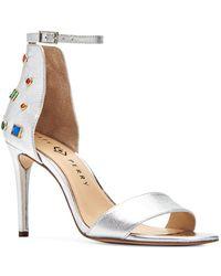 Katy Perry Josephina Embellished Leather Heels - Metallic