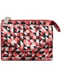 Mango - Geometric Faux Leather Wallet - Lyst