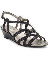 Bandolino - Galtelli Beaded Wedge Sandal - Lyst