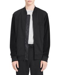 Calvin Klein Jeans - Heathered Zip-front Bomber Jacket - Lyst