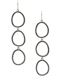 Sole Society - Core Pave Items Crystal Drop Earrings - Lyst