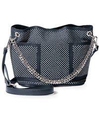 Steve Madden Sasha Studded Mini Bucket Hobo Bag - Black